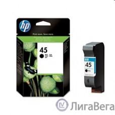 HP 51645AE Картридж №45, Black {DJ710/720/8XX/1600/930C/950/959/970Cxi/DJ1100/20/1220C/6122/27, black (42ml)}