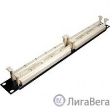 Hyperline 110C-19-100P-1U 100 парная кросс-панель 110 типа, 19″ 1U (без модулей)