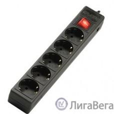 SVEN Фильтр Optima Base 1.8 м (1.9 м) 5 евророзеток, черный