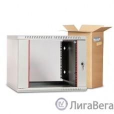 ЦМО Шкаф телекоммуникационный настенный разборный 6U (600х520) дверь стекло (ШРН-Э-6.500) (1 коробка)