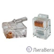 Hyperline PLUG-6P6C-P-C2 Телефонный разъем RJ-12(6P6C) (3 µ″/ 3 микродюйма)