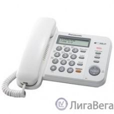 Panasonic KX-TS2358RUW (белый) {АОН,Caller ID,ЖКД,блокировка набора,выключение микрофона,кнопка ″пауза″}