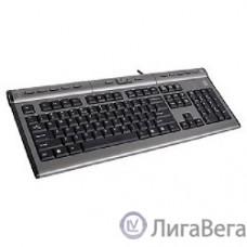 Keyboard A4Tech KLS-7MUU, USB, провод. кл-ра с USB портом (черно-серый). [94395]