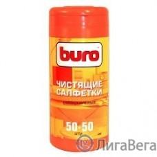 BURO BU-Tmix [817437] Чистящие салфетки 50шт влажных+ 50шт. сухих
