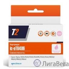 T2 C13T048640 (IC-ET0486) Картридж для Stylus Photo R200/R300/RX500/RX600, светлопурпурный, с чипом