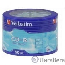 Verbatim  Диски CD-R  50шт. 52x 700Mb, Shrink (43728)