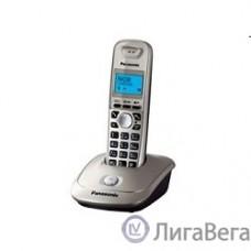 Panasonic KX-TG2511RUN (золото/платиновый) {АОН, Caller ID,спикерфон на трубке,переход в Эко режим одним нажатием}
