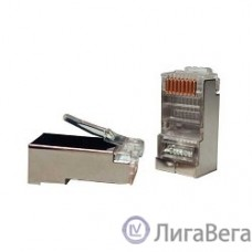 Hyperline PLUG-8P8C-U-C5-SH Разъем RJ-45(8P8C) под витую пару, категория 5e, экранированный 1шт