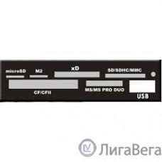 USB 2.0 Card reader SD/SDHC/MMC/MS/microSD/xD/CF, 3.5″ (черный) [GR-136UB]