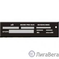 USB 2.0 Card reader SD/SDHC/MMC/MS/microSD/xD/CF, 3.5″ (черный) [GR-116B]
