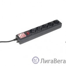 PowerCube Фильтр  B, 5.0м, 5 евророзеток (SPG-B-15-black), черный