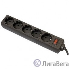 Defender Фильтр ES, 5.0м, 5 розеток, черный [99486]