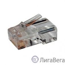 Hyperline PLUG-8P8C-U-C5 Разъем RJ-45(8P8C) под витую пару, категория 5e (50 µ″), универсальный 1шт