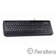 Microsoft ″Wired Keyboard 600″ ANB-00018, 104+5кн., водостойкая, черный (USB)