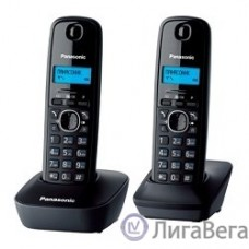 Panasonic KX-TG1612RUH (серый)  {Доп трубка в комплекте,АОН, Caller ID,12 мелодий звонка,поиск трубки}