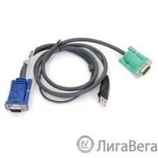 ATEN 2L-5201U Кабель KVM  USB(тип А Male)+HDB15(Male)   SPHD15(Male) 1,2м., черный.