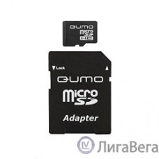 Micro SecureDigital 8Gb QUMO QM8GMICSDHC10 {MicroSDHC Class 10, SD adapter}