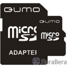 Micro SecureDigital 4Gb QUMO QM4GMICSDHC4 {MicroSDHC Class 4, SD adapter}