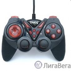 Dialog Action GP-A13, черно-красный {Геймпад, вибрация, 12 кнопок, USB}