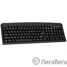 Defender Element HB-520 Black PS/2 [45520] {Клавиатура проводная, 104+3кн. управление}