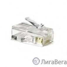 Hyperline PLUG-8P8C-U-C6 Разъем RJ-45(8P8C) под витую пару, категория 6 (50 µ″/ 50 микродюймов), универсальный (для одножильного и многожильного кабеля) 1шт