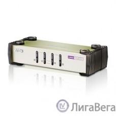 ATEN CS84U(-AT) 4-портовый KVM-переключатель {1 user(HDB15(SVGA Female)+KBD(PS/2)+MOUSE(PS/2), KVM-порты: SPHD18(Female). В комплекте: кабели KVM (2L-5201P)-4шт. Не требует внешнего питания}