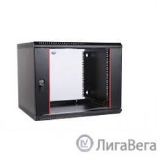 ЦМО Шкаф телекоммуникационный настенный разборный 6U (600х350) дверь стекло,цвет черный (ШРН-Э-6.350-9005) (1 коробка)