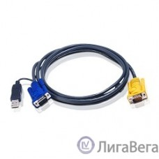 ATEN 2L-5202UP Шнур, монитор+клавиатура+мышь Intelligent CABLE HD15M/USBAM 1.8M