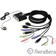 ATEN CS692(-AT/B) переключатель PETITE 2 PORT USB2.0 HDMI KVM SWITCH.