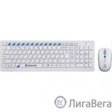 Defender Skyline 895  Nano W White USB [45895] {2.4ГГц, беспровод. набор клавиатура + мышь}