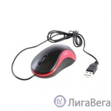 Oklick 115S for Notebooks Black/Red Optical 1000DPI USB [711637]