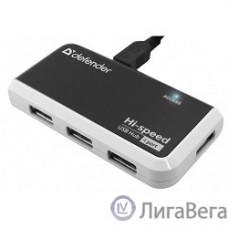 DEFENDER USB QUADRO INFIX USB 2.0, 4 порта, [83504]