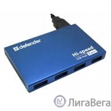 DEFENDER USB (QUADRO) SEPTIMA SLIM USB 2.0, 7 порта, (с адап. 2А)