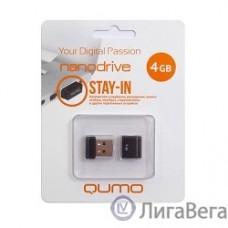 USB 2.0 QUMO 4GB NANO [QM4GUD-NANO-B] Black