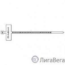 Hyperline GTK-200MC Стяжка нейлоновая неоткрывающаяся, безгалогенная (halogen free), 200x2.5мм, с площадкой для маркера, (100 шт)