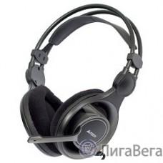 A4Tech HS-100, черные/серый {Гарнитура, мониторные, 20 - 20000Гц, длина шнура 2м}