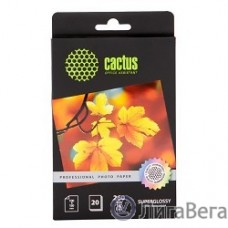 CACTUS CS-HGA626020 Фотобумага Cactus CS-HGA626020 Professional, суперглянцевая, 10x15, 260 г/м2, 20 листов