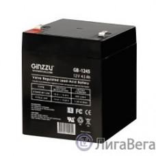 Ginzzu Батарея GB-1245 свинцово-кислотный, необслуживаемый, технология AGM, клемма 5/7мм