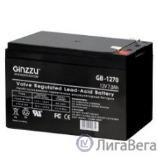Ginzzu Батарея GB-1270 свинцово-кислотный, необслуживаемый, технология AGM, клемма 5/7мм