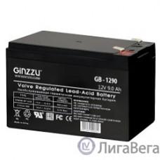 Ginzzu Батарея GB-1290 свинцово-кислотный, необслуживаемый, технология AGM, клемма 5/7мм