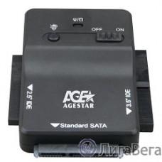 AgeStar 3FBCP1, Переходник 2.5″SSD+ 2.5″/3.5″IDE+ 2.5″/3.5″SATA->USB3.0  пластик, черный, BackUp, блок питания