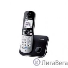 Panasonic KX-TG6811RUB  (черный) {Беспроводной DECT,40 мелодий,телефонный справочник 120 зап.}