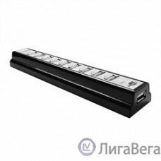 CBR CH-310, USB-концентратор  активный, 10 портов, USB 2.0/220В black