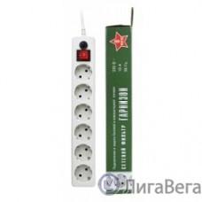 Gembird Сетевой фильтр Гарнизон EHW-6 1.8 м 6 розеток белый