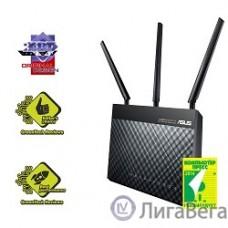 ASUS RT-AC68U  WiFi Router (WLAN 1.3Gbps, Dual-band 2.4GHz+5.1GHz, 802.11ac+4xLAN RG45 GBL+1xWAN GBL+1xUSB3.0+1xUSB2.0) 3x ext Antenna