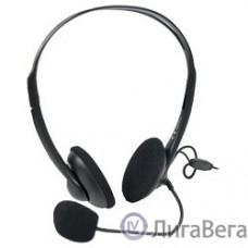 A4Tech HS-6, Черный {Гарнитура стерео, наклад, рег громкости на проводе, 20-20000Гц 32 Ом 97дБ, микр подвижной 97дБ, кабель 2, 3.5 jack 3 pin}