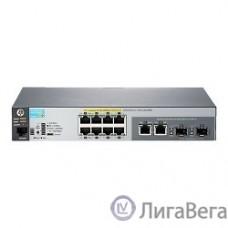 HP J9774A Коммутатор HPE 2530-8G-PoE+ управляемый настольный 10x10/100/1000BASE-T 2x10/100/1000BASE-T/Mini GBIC (SFP)
