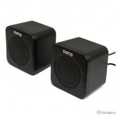 Dialog Colibri AC-01UP BLACK {акустические колонки 2.0, 1W RMS, черные, питание от USB}