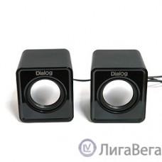 Dialog Colibri AC-02UP BLACK {акустические колонки 2.0, 5W RMS, питание от USB}