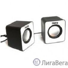 Dialog Colibri AC-02UP BLACK-WHITE {акустические колонки 2.0, 5W RMS, питание от USB}